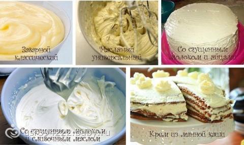 Крем для тортов фото рецепт