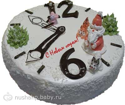 Оформление новогодних тортов картинки
