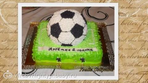 фото торта сфутбольным полем