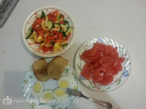 Салат по диете магги