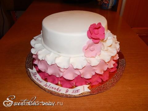 фото торт девочке на 9 лет
