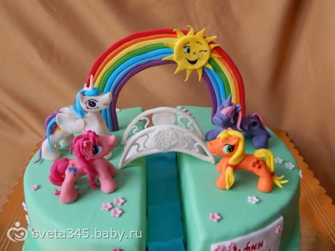 Как сделать пони из торта 834