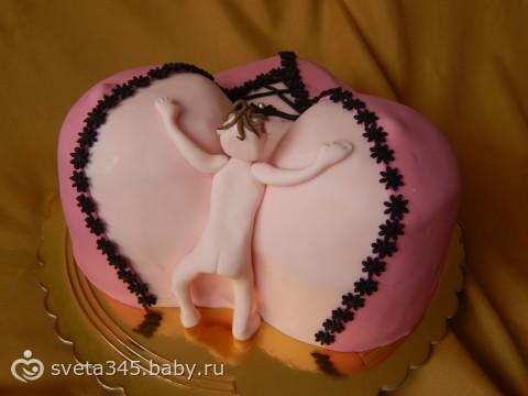 Торт сиськи из сливок