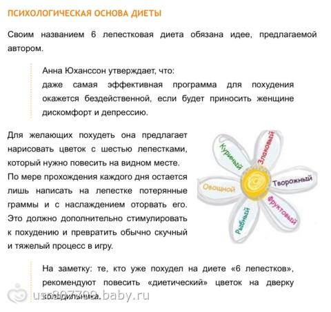 Диета Ромашка Лепесток. Диета «Ромашка – 6 лепестков»: меню на каждый день, преимущества и недостатки, советы диетологов