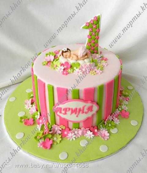 Детский торт для девочки на год фото