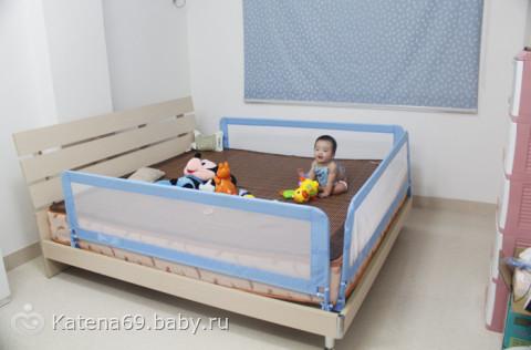 Как сделать барьер для кровати 555