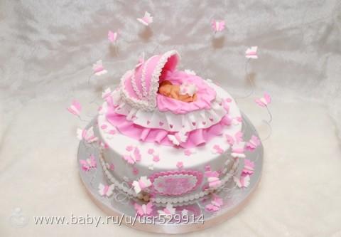 Торт на годик девочке картинки
