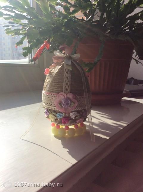 Пасхальное яйцо в винтажном стиле