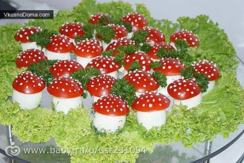 фото украшений салатов для детских праздников