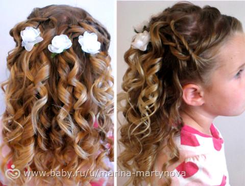 Как накрутить волосы ребенку видео