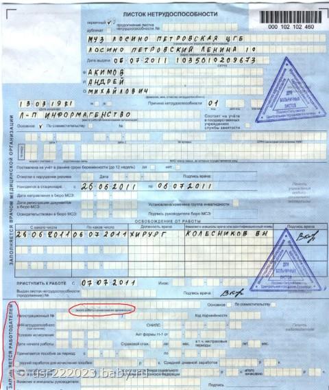 На работе не принимают больничный лист что делать Анализ мочи Кожуховская