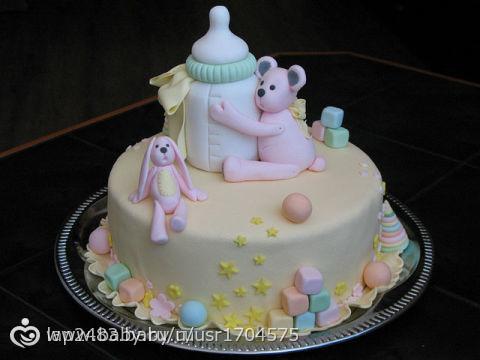 Торт на первый день рождения с фото