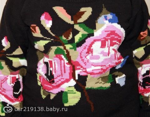 Джемпер с розами