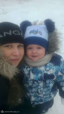Наш первый снег!)